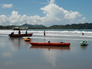 Kayaks at Playa Samara