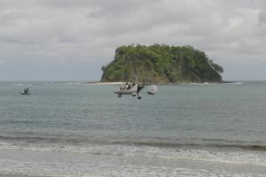 Gyro-copter at Playa Samara