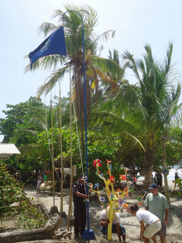 environmental award blue flag playa samara beach costa rica